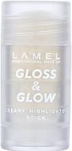 Духи, Парфюмерия, косметика Хайлайтер для лица - Lamel Professional Creamy Highlighting Gloss & Glow Stick
