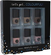 Духи, Парфюмерия, косметика Набор - Cosmetic 2K Let'S Get Colourful! Nudes Nail Polish (nail/laquer/6х5ml)