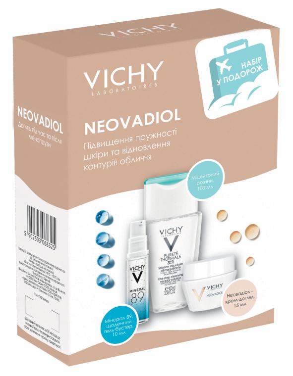 Набор для путешествия - Vichy Neovadiol (micel/water/100ml + gel/10ml + cr/15ml)