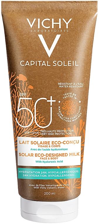 Солнцезащитное увлажняющее молочко для кожи лица и тела - Vichy Capital Soleil Solar Eco-Designed Milk SPF 50+