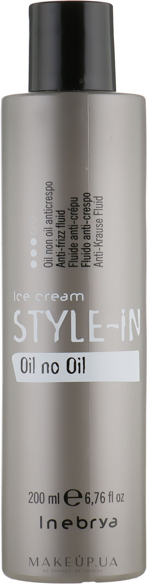 Флюид для выпрямления вьющихся и пушащихся волос - Inebrya Style-In Oil Non Oil — фото 200ml