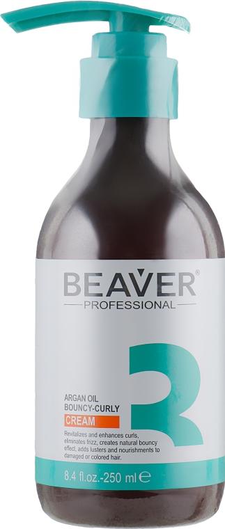 Крем для придания кудрям упругости с аргановым маслом - Beaver Professional Argan Oil Cream