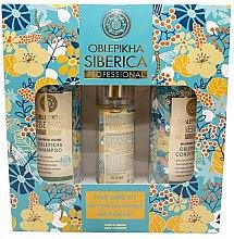 Духи, Парфюмерия, косметика Набор - Natura Siberica Oblepikha Hair Care Kit (shm/400ml + cond/400ml + spray/125ml)