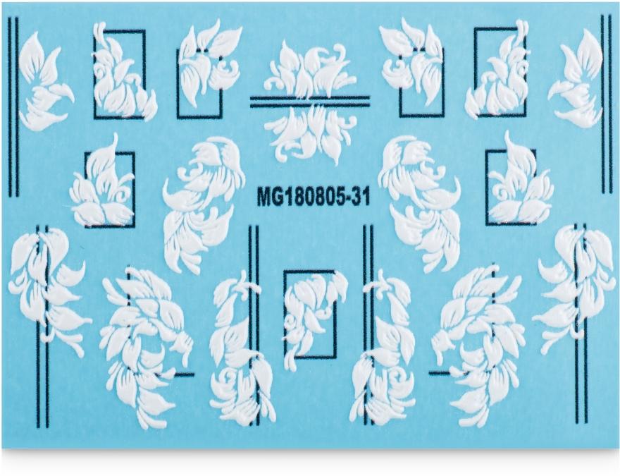 Наклейки для ногтей 3D, MG - Vizavi Professional