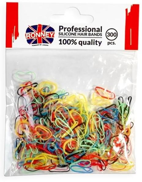 Резинки силиконовые, разноцветные - Ronney Professional Silicone Hair Bands
