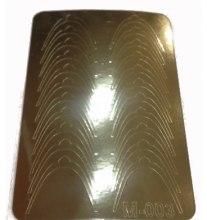 Парфумерія, косметика Металізовані дизайнерські наклейки, золото - Canni