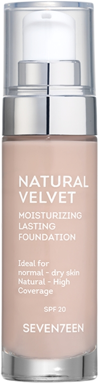 Тональный крем - Seventeen Natural Velvet Moisturizing Lasting Foundation