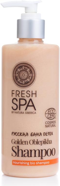Шампунь для волос питательный - Natura Siberica Fresh Spa Russkaja Bania Detox Golden Oblepikha Shampoo — фото N1
