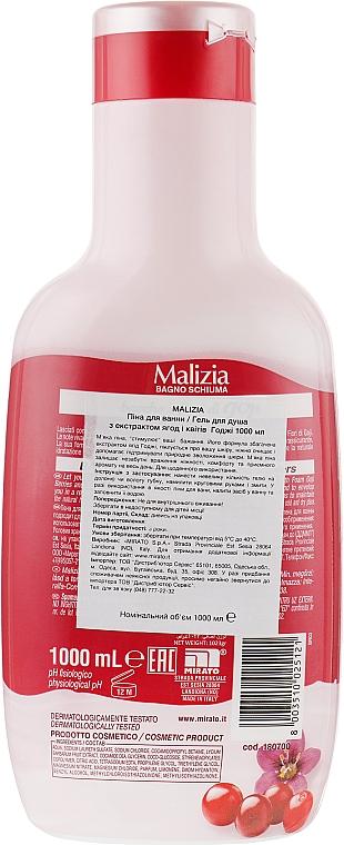 "Пена для ванны ""Ягоды и цветы годжи"" - Malizia Bath Foam Goji Berries and FLowers — фото N2"