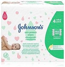 """Духи, Парфюмерия, косметика Влажные салфетки детские """"Тройная защита"""", 192шт - Johnson's Baby"""