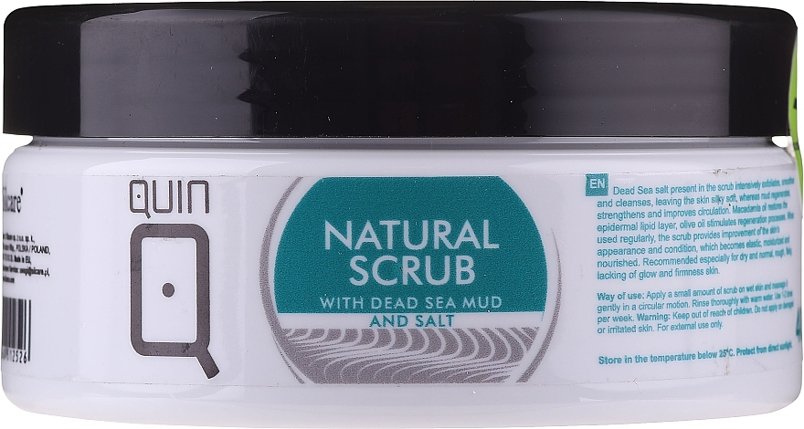 Пилинг для тела - Silcare Quin Natural Scrub with Dead Sea Mud & Salt