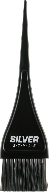Кисть для окрашивания волос узкая, RP-008 - Silver Style