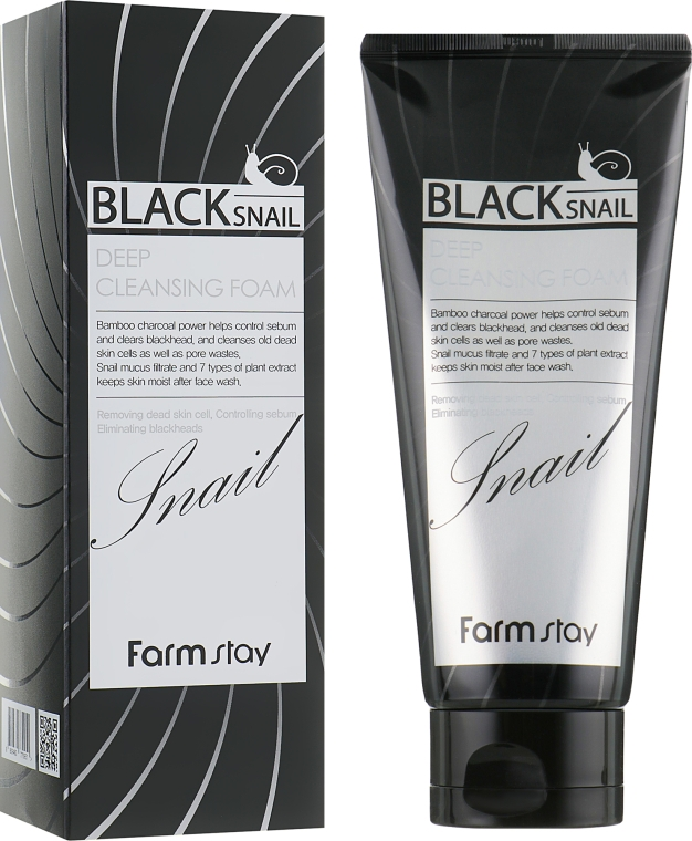 Пенка для лица с муцином черной улитки - FarmStay Black Snail Deep Cleansing Foam