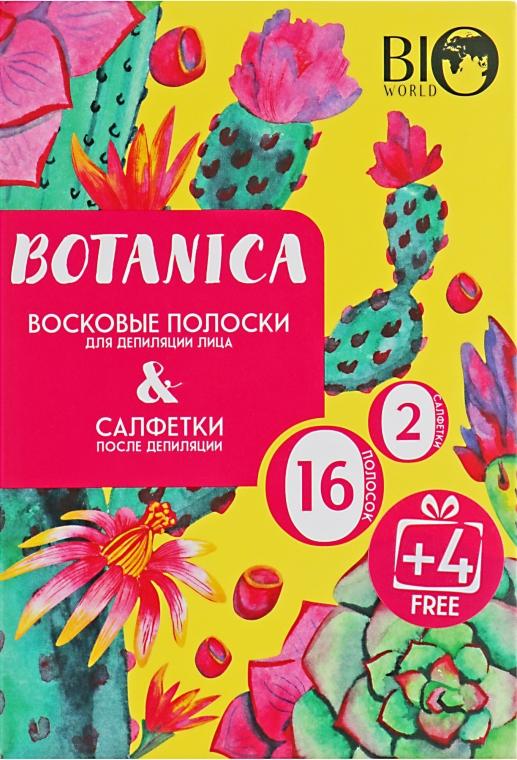 Набор для депиляции лица - Bio World Botanica (полоски/16шт+4шт + саше)