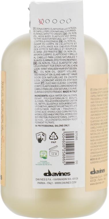 Масло без масла для природних слухняних укладок - Davines Oil Non Oil More Inside — фото N2