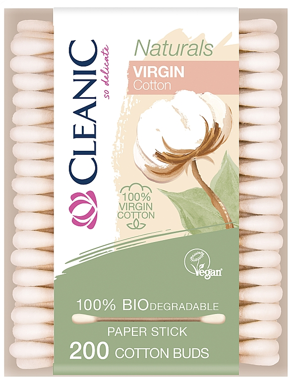 Ватные палочки, 200шт - Cleanic Naturals Virgin Cotton Buds
