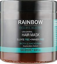 """Духи, Парфюмерия, косметика Маска от выпадения волос """"Макадамия и Биотин"""" - Rainbow Professional Exclusive Loss Control Mask"""
