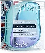 Духи, Парфюмерия, косметика Компактная расческа для волос - Tangle Teezer Compact Styler Petrol Blue Ombre