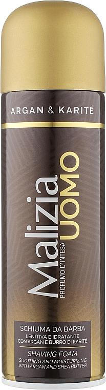 Пена для бритья - Malizia Uomo Argan Oil And Karite