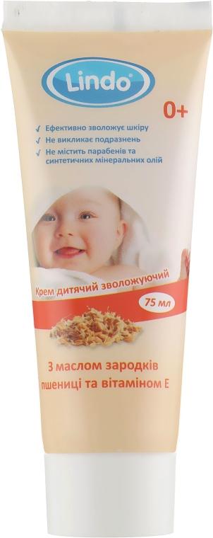 Детский увлажняющий крем с маслом зародышей пшеницы и витамином Е - Lindo