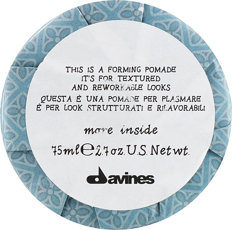 Формирующая помадка для волос - Davines More Inside This is a Forming Pomade