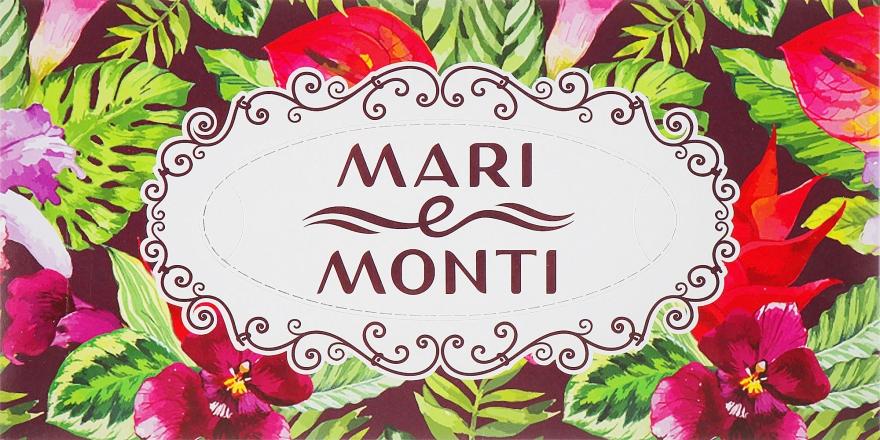 Салфетки универсальные двухслойные, 150шт, цветы разноцветные - Mari E Monti
