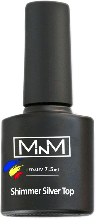 Топ с серебрянным шиммером без липкого слоя - M-in-M Shimmer Silver Top