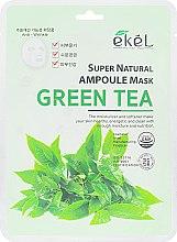 Духи, Парфюмерия, косметика Маска тканевая для лица с экстрактом зеленого чая - Ekel Super Natural Ampoule