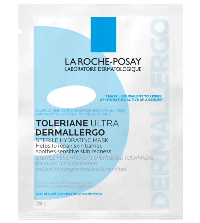 Стерильная увлажняющая тканевая маска для гиперчувствительной и склонной к аллергии кожи лица - La Roche-Posay Toleriane Ultra Dermallergo Sterile Hydrating Mask