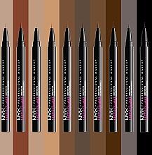 Фломастер-тинт для бровей - NYX Professional Makeup Lift & Snatch — фото N3