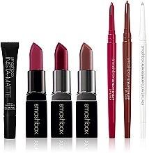 Набор - Smashbox Lipstick survival Kit (lipstick/3x3g + Liner/3x0.27g + gel/10ml ) — фото N1