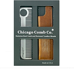 Духи, Парфюмерия, косметика Набор - Chicago Comb Co CHICA-1-SET (comb/1pcs + case/1pcs)