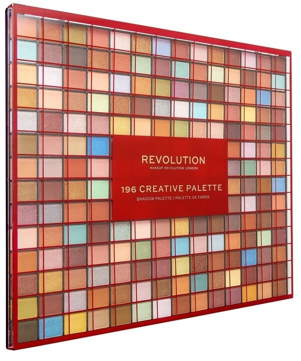 Палетка теней для век, 196 оттенка - Makeup Revolution 196 Creative Palette Eyeshadow Palette — фото N2