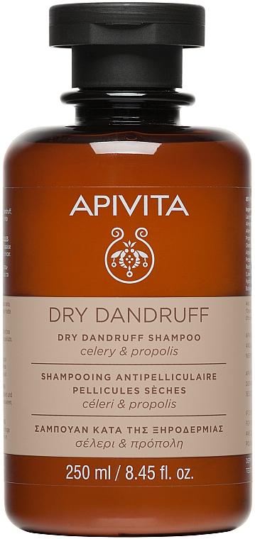 Шампунь от перхоти для сухих волос с сельдереем и прополисом - Apivita Shampoo For Dry Dandruff With Celery Propolis