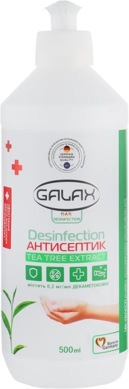 Жидкость для рук антисептическая с экстрактом чайного дерева и декаметоксином - Galax Das Desinfection Tea Tree Extract