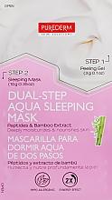 Духи, Парфюмерия, косметика Двухступенчатая ночная маска - Purederm Dual-Step Aqua Sleeping Mask Peptides & Bamboo