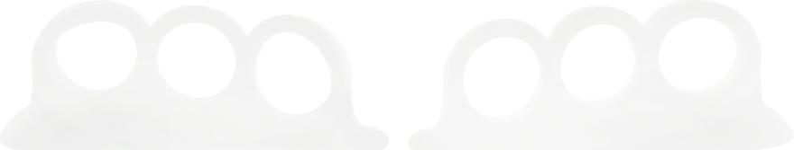 Разделители для педикюра, силиконовые, белые - PNB