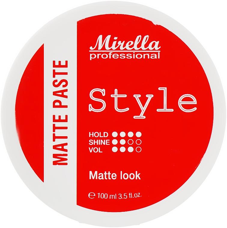 Матовая моделирующая паста для укладки волос - Mirella Professional Style Matte Paste