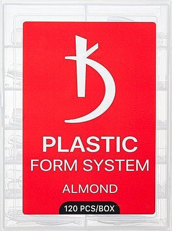 Верхние формы для моделирования ногтей (миндалевидная форма) - Kodi Professional Plastic Form System Almond