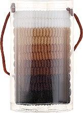 Духи, Парфюмерия, косметика Резинки для волос mix коричневые, 12 шт - Top Choice