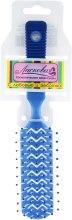 Духи, Парфюмерия, косметика Расческа для ежедневного ухода с прорезями, синяя - Ласковая