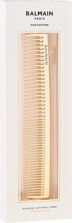 Профессиональная золотая расческа для стрижки - Balmain Golden Cutting Comb — фото N2