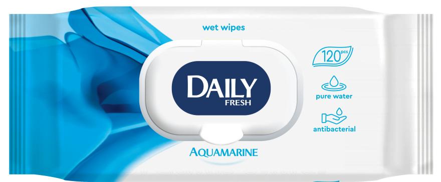 Влажные салфетки универсальные, с клапаном - Daily Fresh Wet Wipes Aquamarine