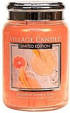 Ароматическая свеча в банке - Village Candle Grapefruit Turmeric Tonic Glass Jar — фото N2