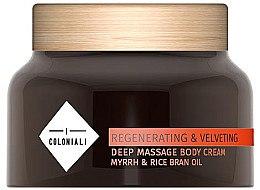 Духи, Парфюмерия, косметика Крем для массажа - I Coloniali Regenerating & Velveting Deep Massage Body Cream