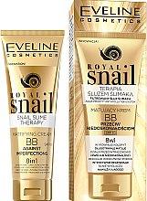 Парфумерія, косметика Матувальний BB-крем - Eveline Cosmetics Royal Snail BB Cream 8in1