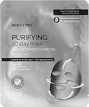Духи, Парфюмерия, косметика Маска для лица с вулканическим пеплом - BeautyPro Purifying 3D Clay Mask with Activated Charcoal