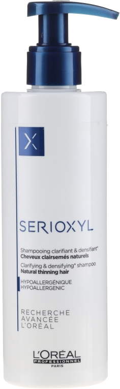 Шампунь для натуральных, тонких волос - L'Oreal Professionnel Serioxyl Clarifying Shampoo Natural, Noticeably Thinning Hair