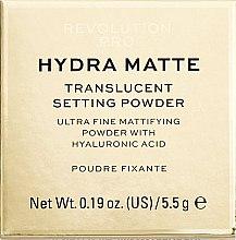 Духи, Парфюмерия, косметика Рассыпчатая пудра с матовым эффектом - Revolution Pro Hydra Matte Translucent Setting Powder