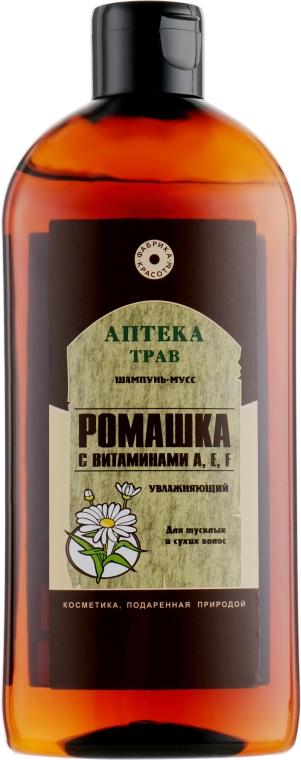 Шампунь-мусс Ромашка с витаминами A,E,F - Фабрика красоты Аптека трав